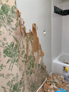 half removed wallpaper