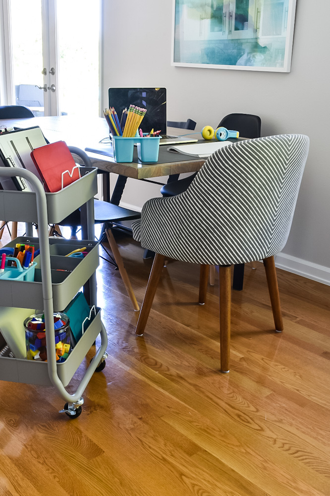 remote learning dining table workstation