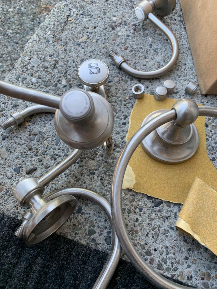 sanded hardware