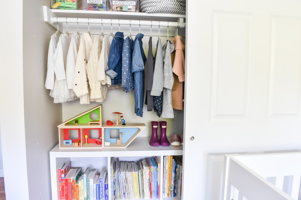 Kallax in closet