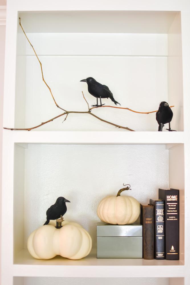 crow halloween decor