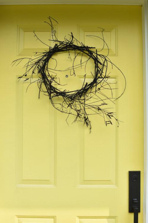 spooky stick halloween wreath