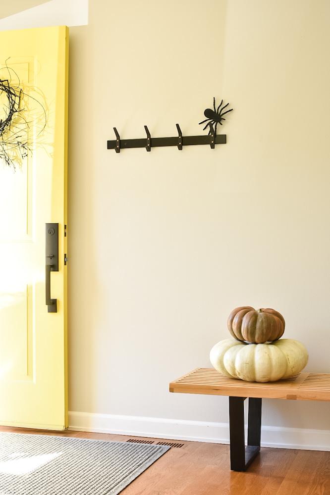 pumpkins and front door