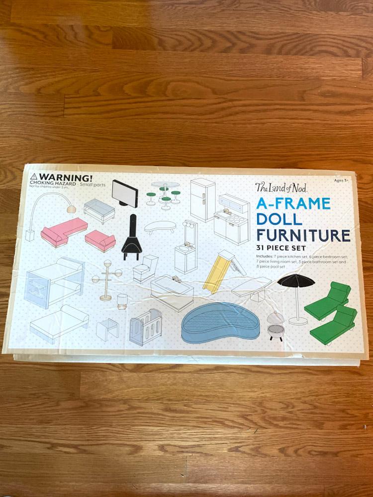 Land of Nod A-Frame doll furniture set