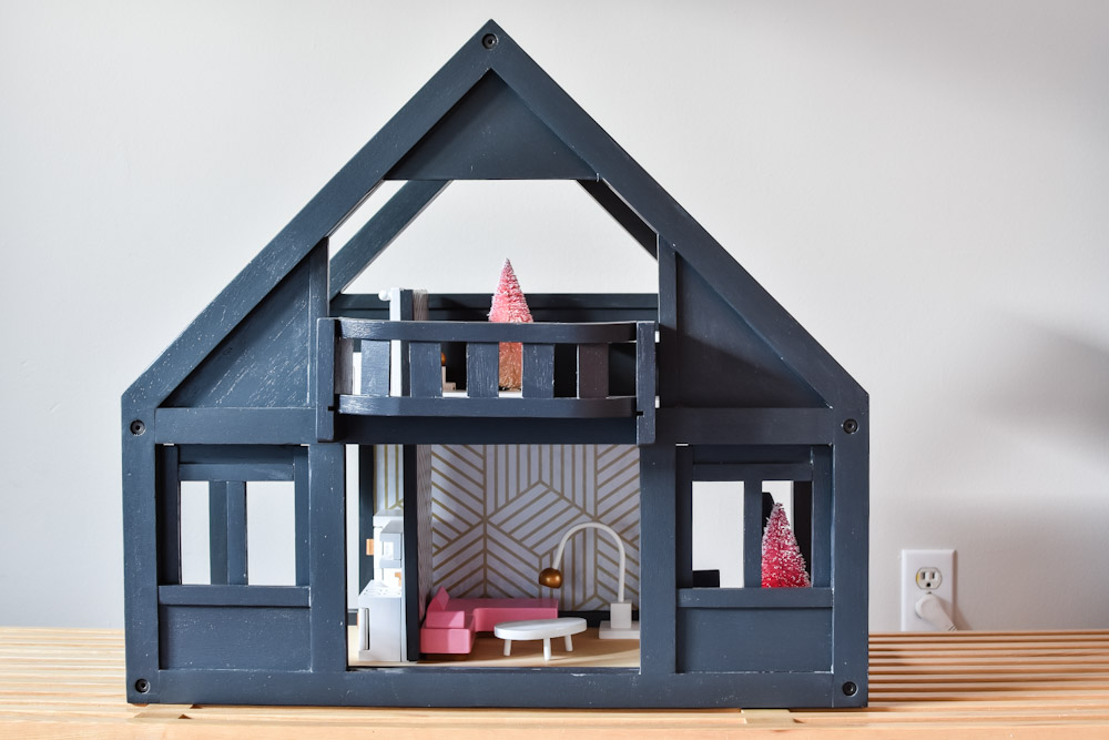 plan toys painted dollhouse makeover
