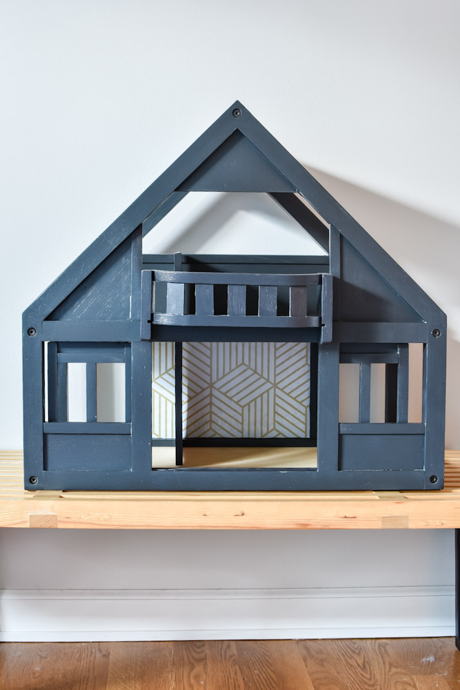 painted plan toys first dollhouse