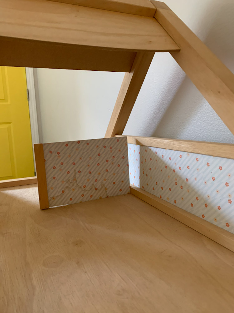 water stained walls plan toys dollhouse