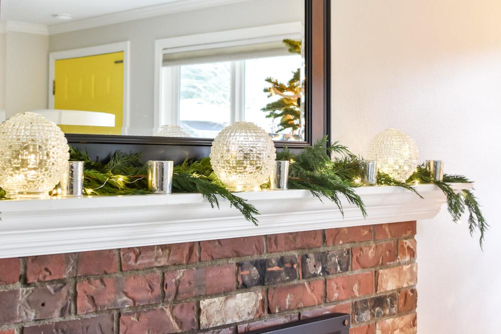 glass balls mantle decor