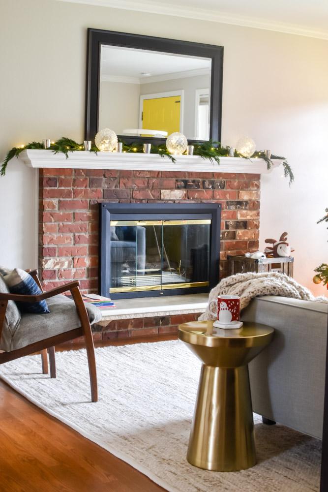 Christmas fireplace cedar garland