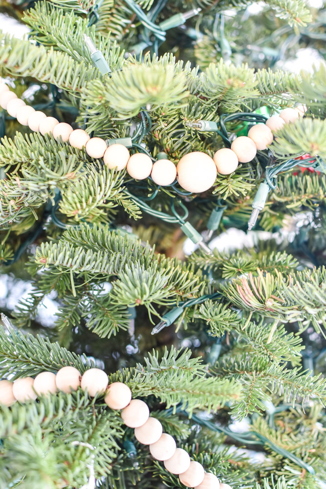 Christmas tree diy wood bead garland