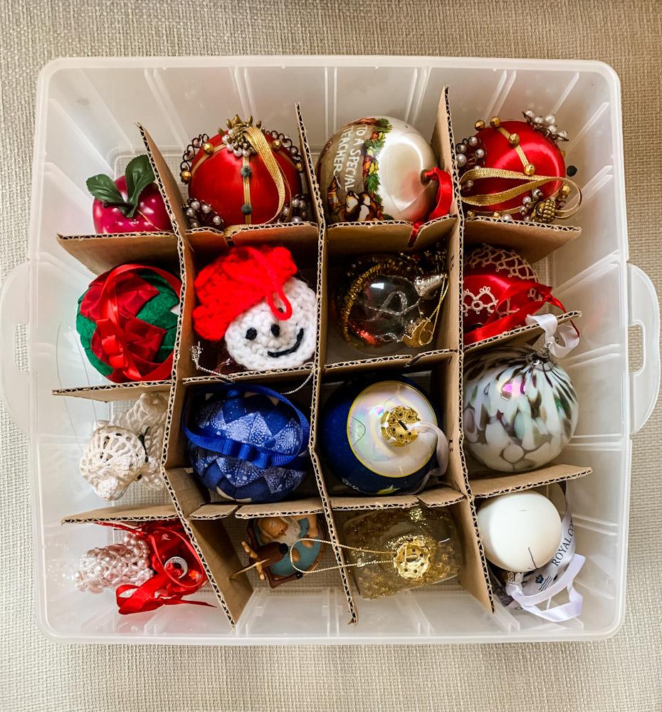 ornament organizer