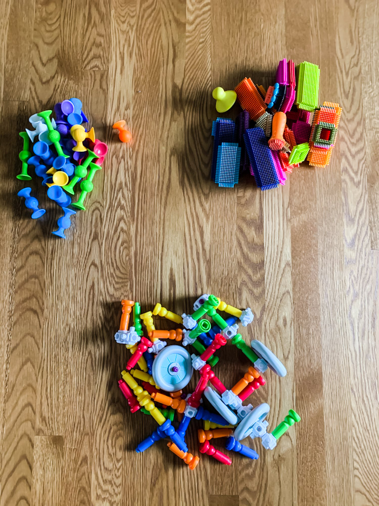 toy sorting on floor