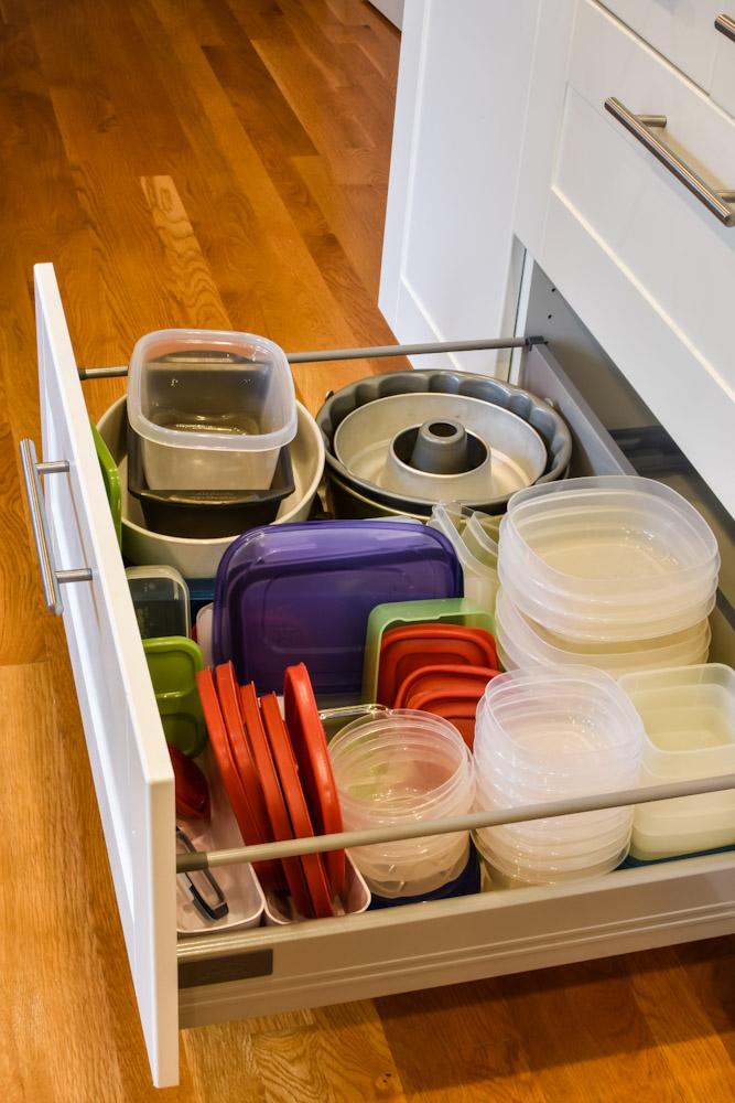 full tupperware drawer