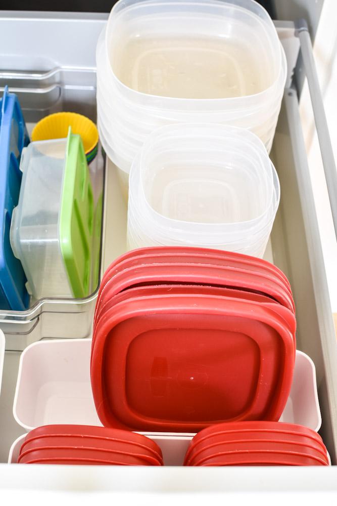 Organized food storage drawer