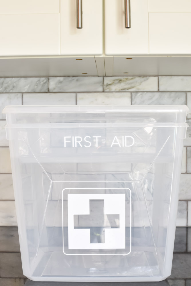 multi layer first aid and medicine kit