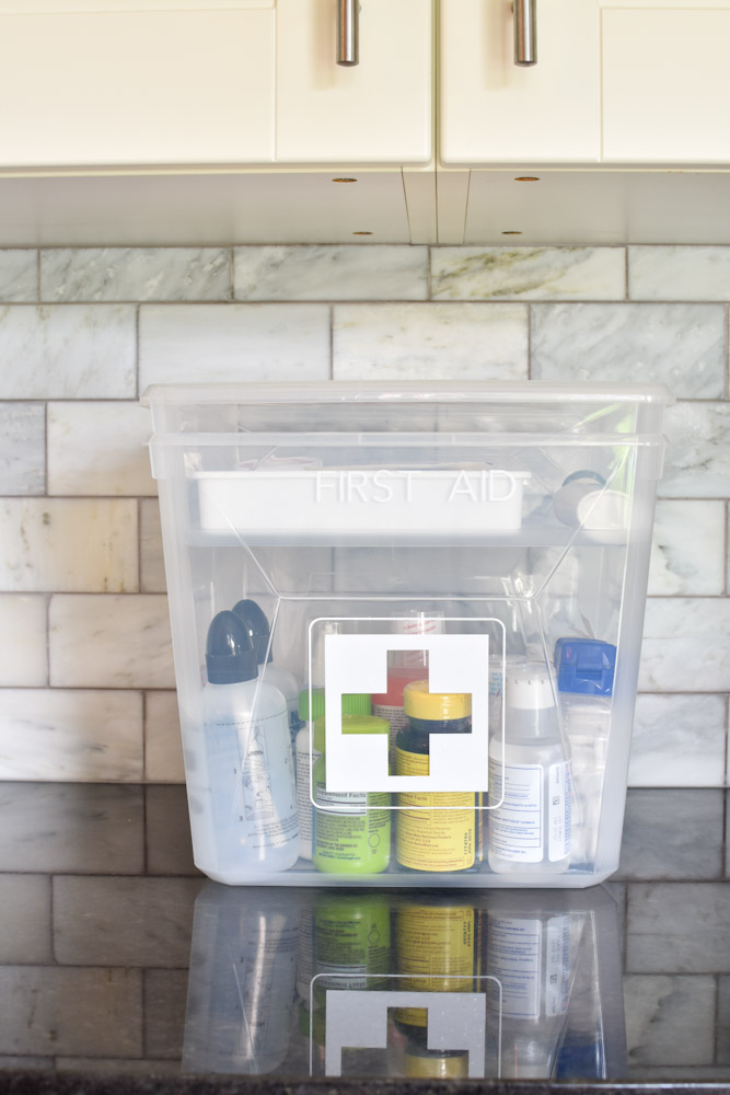 Organized first aid and medical kit