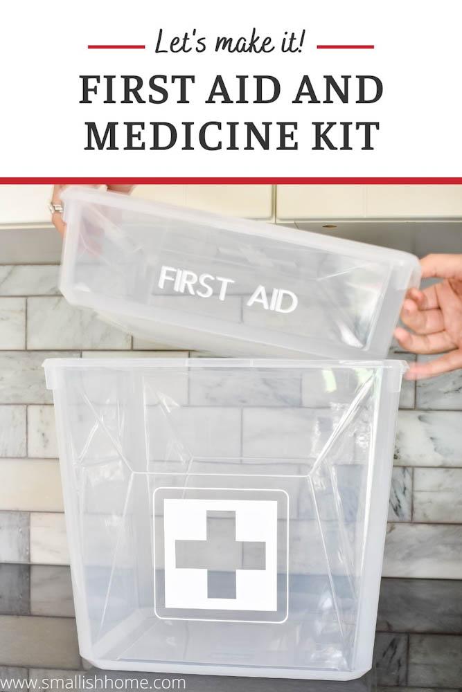 plastic bin first aid kit
