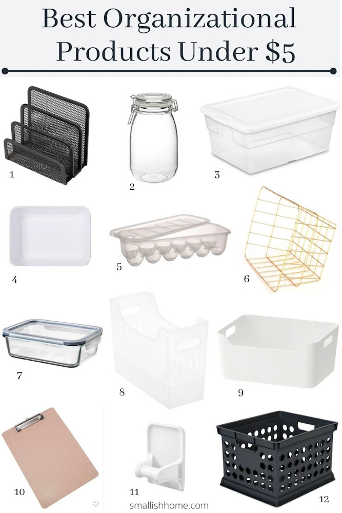 Organizing products you can buy under 5 dollars