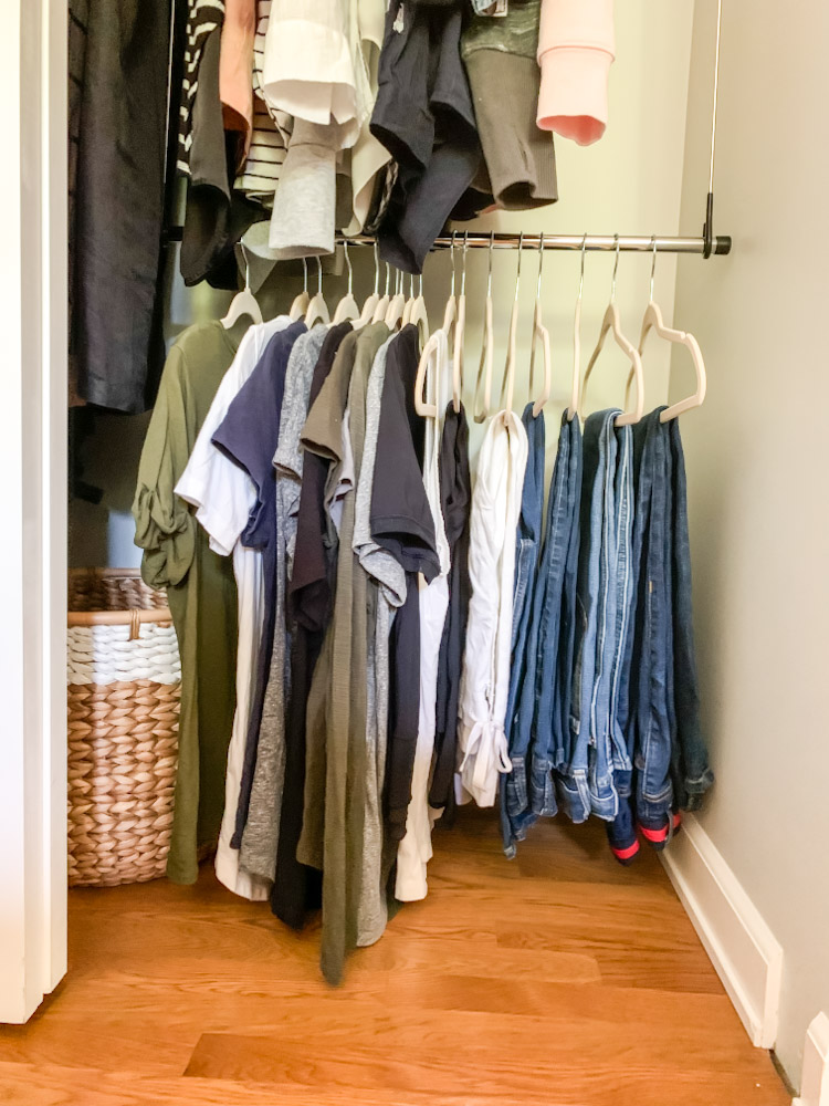 maximize closet space with a second bar