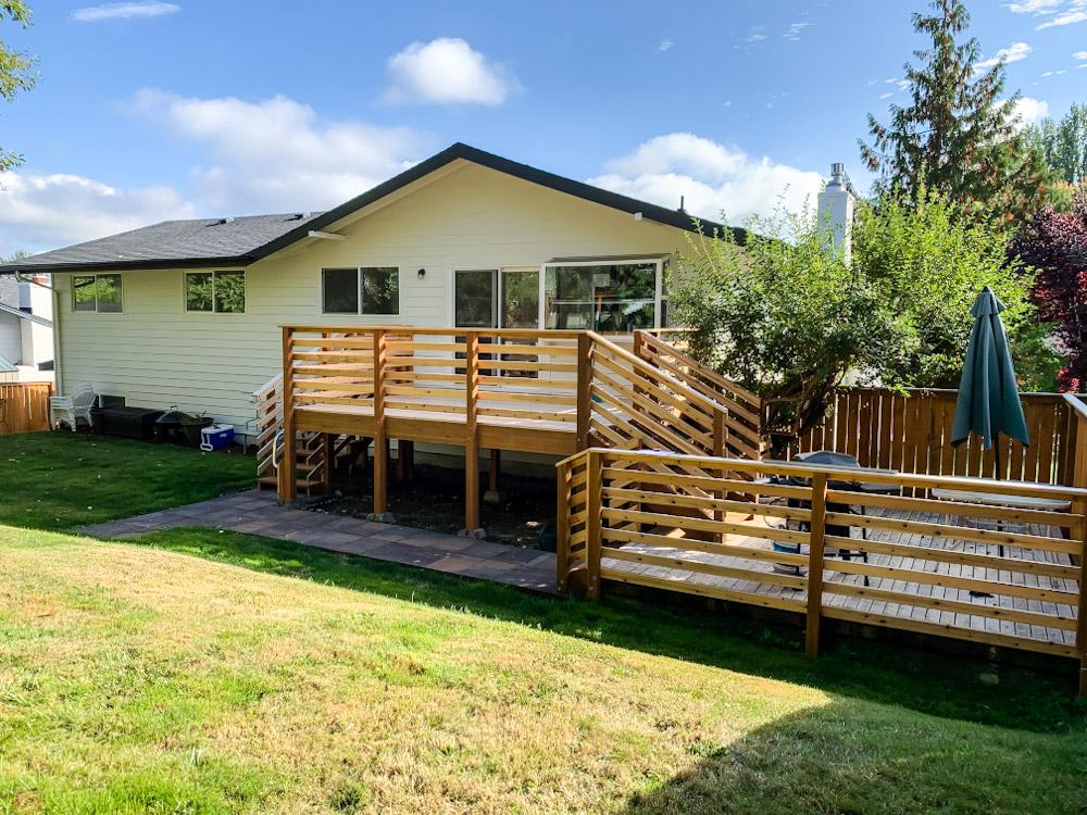 bilevel backyard deck
